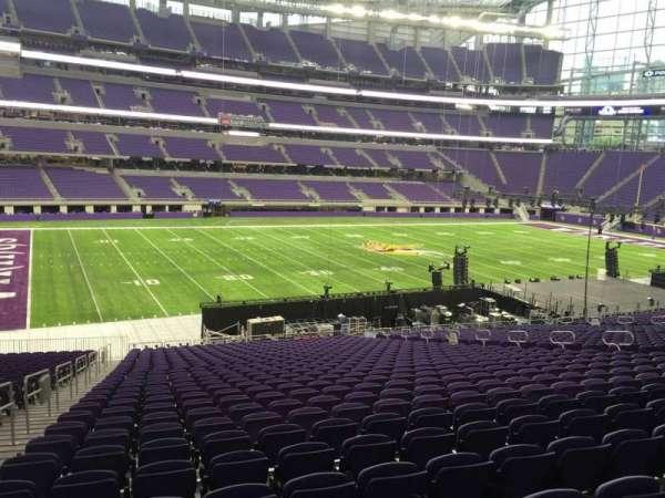 U.S. Bank Stadium, section: 112, row: 34, seat: 25