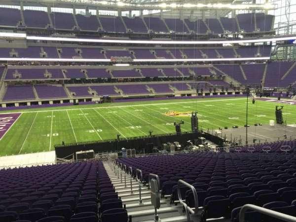 U.S. Bank Stadium, section: 112, row: 34, seat: 1