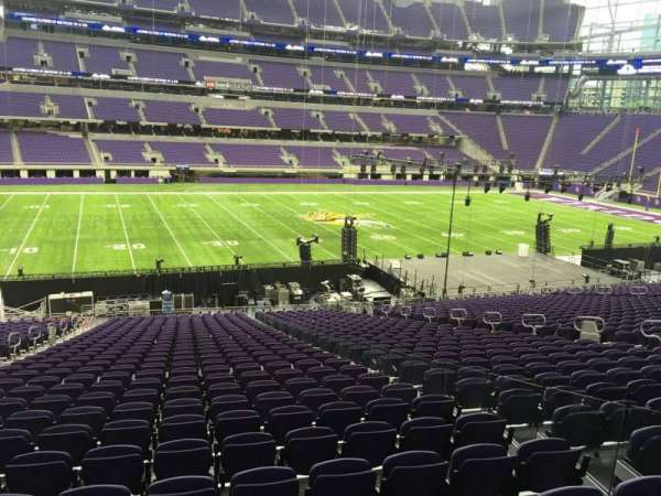 U.S. Bank Stadium, section: 111, row: 34, seat: 4