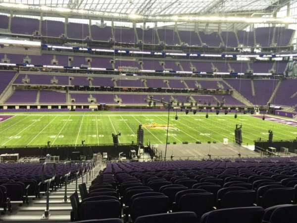 U.S. Bank Stadium, section: V4, row: 37, seat: 29