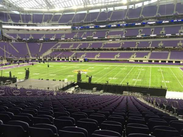 U.S. Bank Stadium, section: 107, row: 37, seat: 3