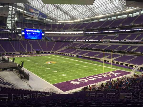 U.S. Bank Stadium, section: 101, row: 42, seat: 17
