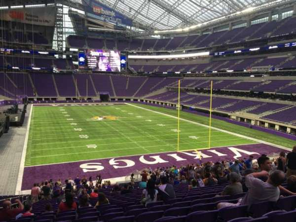U.S. Bank Stadium, section: 143, row: 31, seat: 20