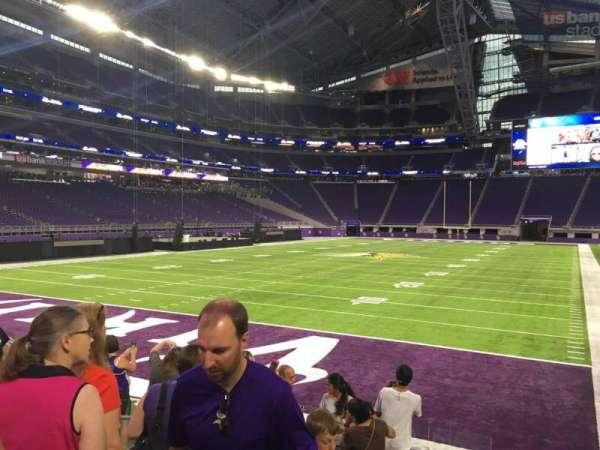 U.S. Bank Stadium, section: 138, row: 9, seat: 20
