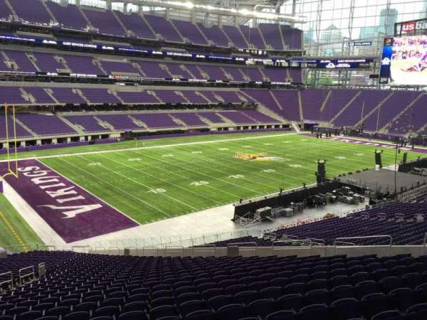 U.S. Bank Stadium, section: 114, row: 39, seat: 22