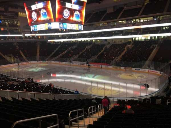 Rogers Place, section: 115, row: Bar Rail, seat: End
