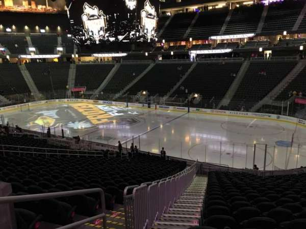 T-Mobile Arena, section: 8, row: Z, seat: 1