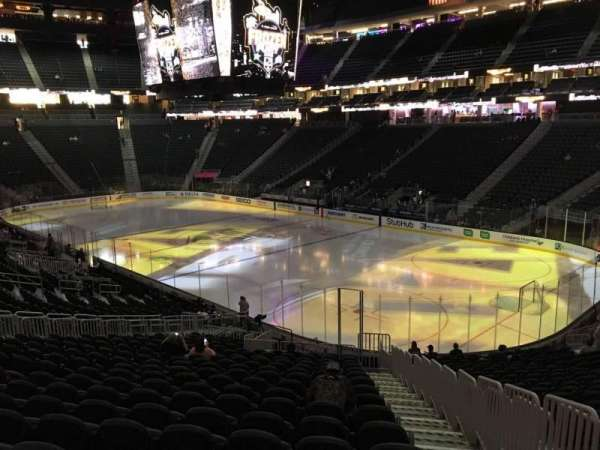 T-Mobile Arena, section: 18, row: W, seat: 23