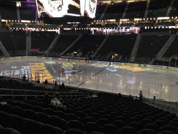 T-Mobile Arena, section: 17, row: W, seat: 12