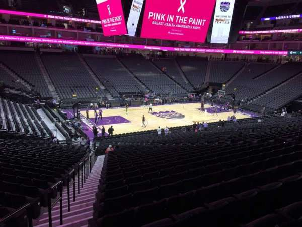 Golden 1 Center, section: 122, row: U, seat: 16
