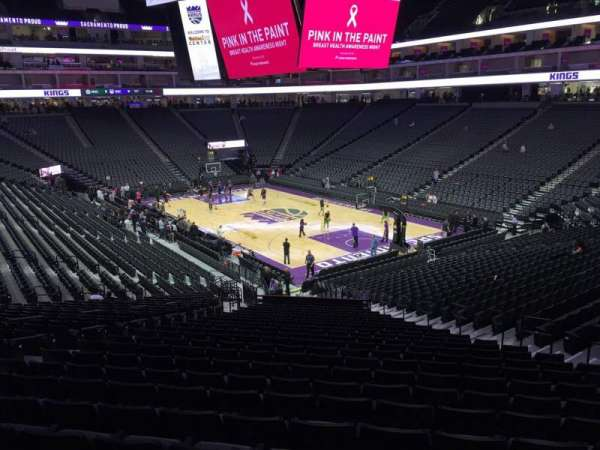 Golden 1 Center, section: 103, row: W, seat: 12