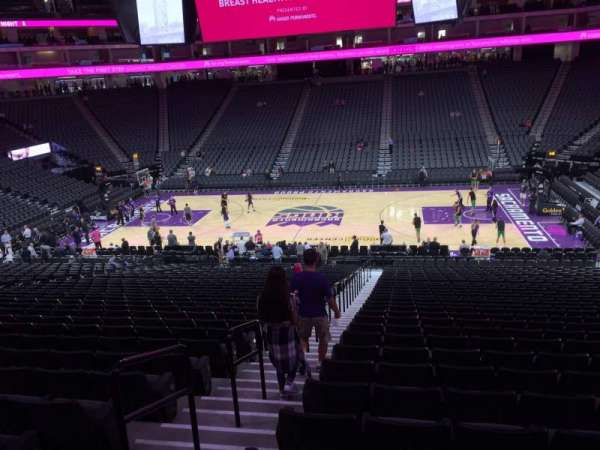 Golden 1 Center, section: 106, row: R, seat: 17