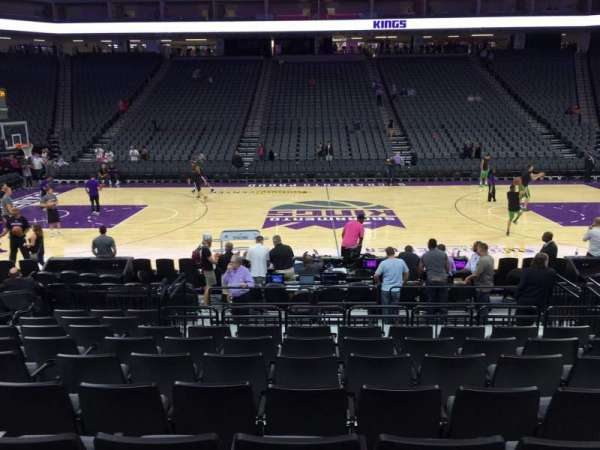 Golden 1 Center, section: 107, row: A, seat: 10