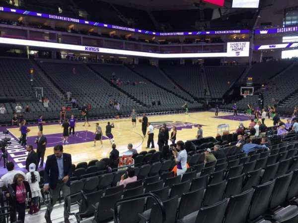 Golden 1 Center, section: 109, row: A, seat: 3