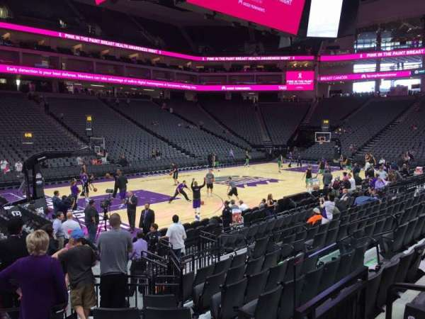 Golden 1 Center, section: 110, row: Ee, seat: 4
