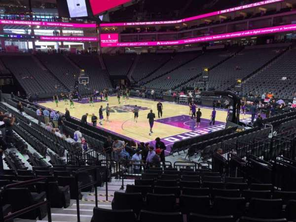Golden 1 Center, section: 116, row: B, seat: 7