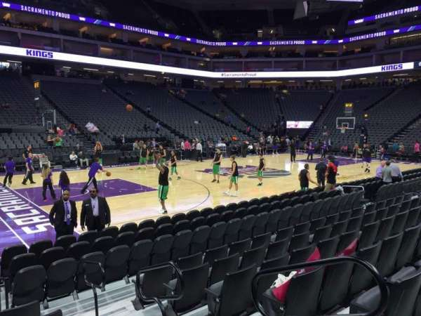 Golden 1 Center, section: 122, row: Cc, seat: 1