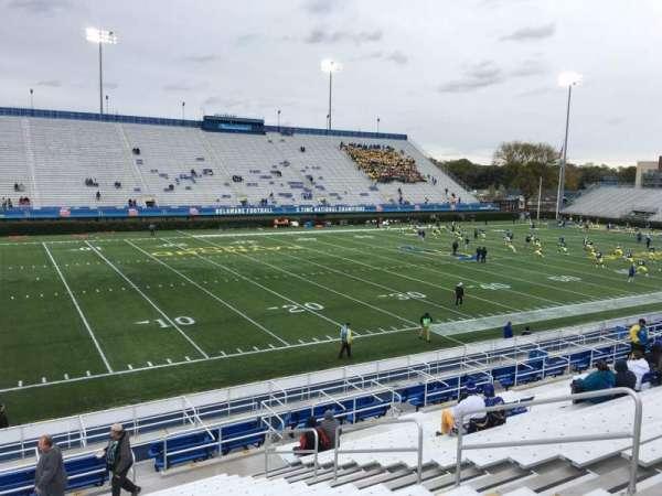 Delaware Stadium, section: G, row: P, seat: 8