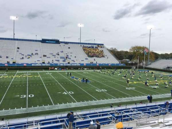 Delaware Stadium, section: E, row: P, seat: 18