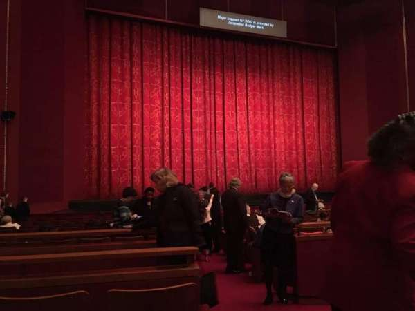The Kennedy Center Opera House, section: Orchestra L, row: U, seat: 1