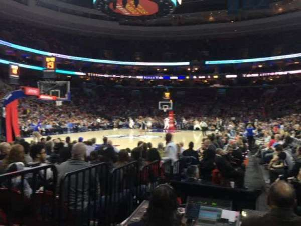 Wells Fargo Center, section: 121, row: 1, seat: 14