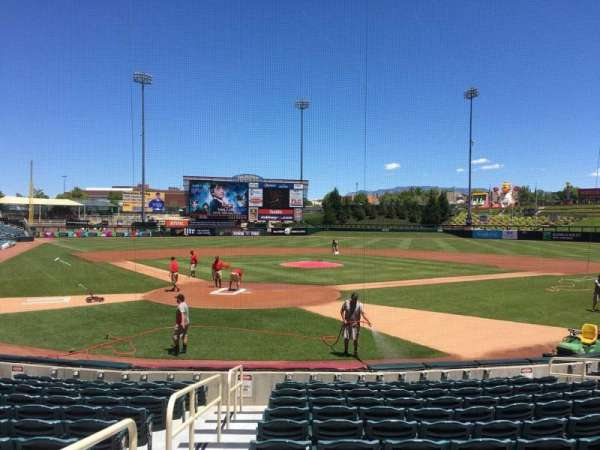 Isotopes Park, section: 102, row: L, seat: 14