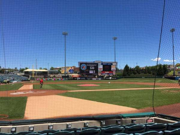 Isotopes Park, section: 106, row: F, seat: 6