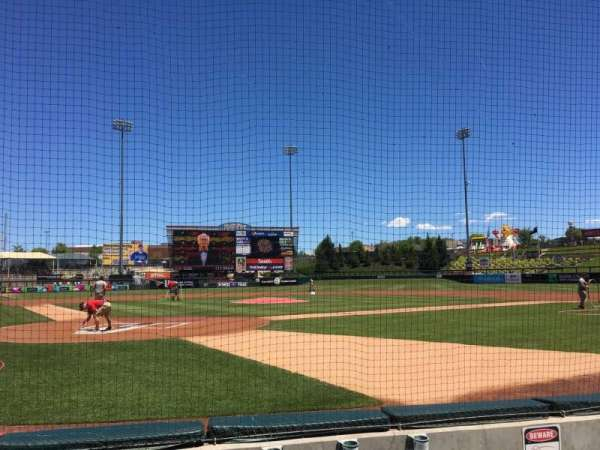 Isotopes Park, section: 104, row: D, seat: 4