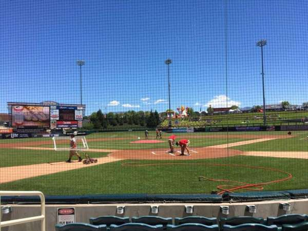 Isotopes Park, section: 101, row: E, seat: 7