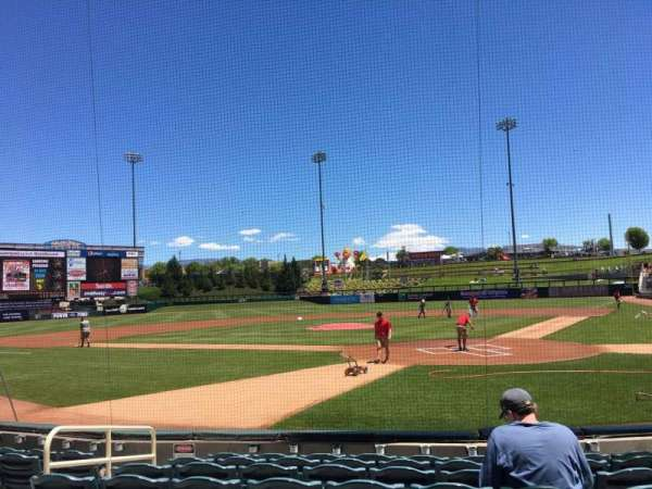 Isotopes Park, section: 103, row: H, seat: 7