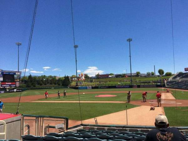 Isotopes Park, section: 105, row: I, seat: 8