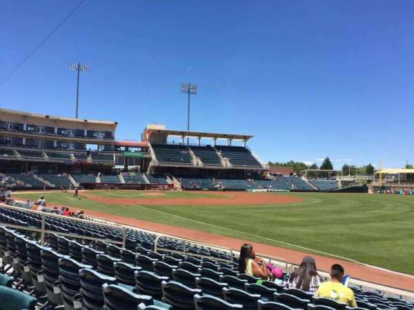 Isotopes Park, section: 122, row: M, seat: 10