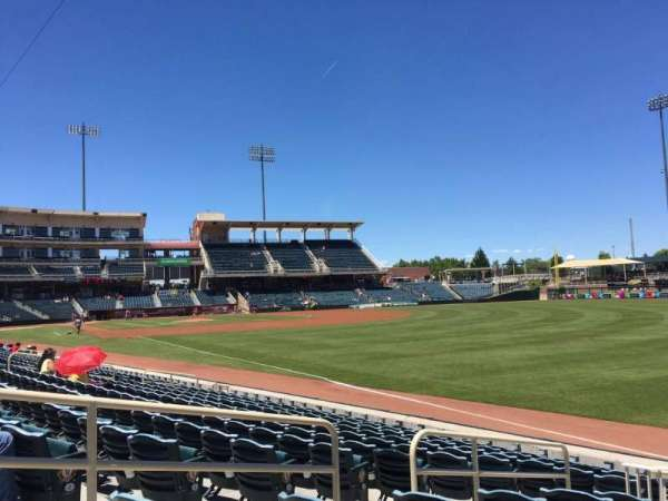Isotopes Park, section: 124, row: L, seat: 12