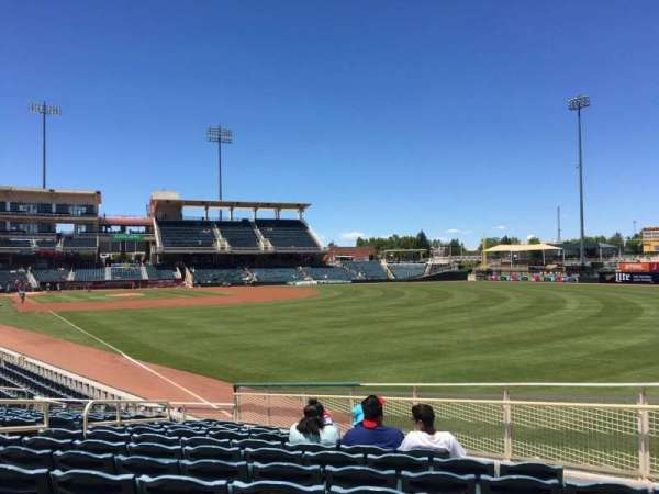 Isotopes Park, section: 126, row: S, seat: 12
