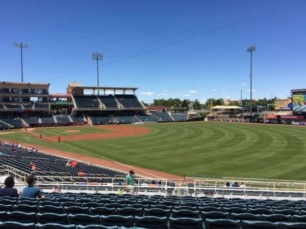 Isotopes Park, section: 130, row: L, seat: 12