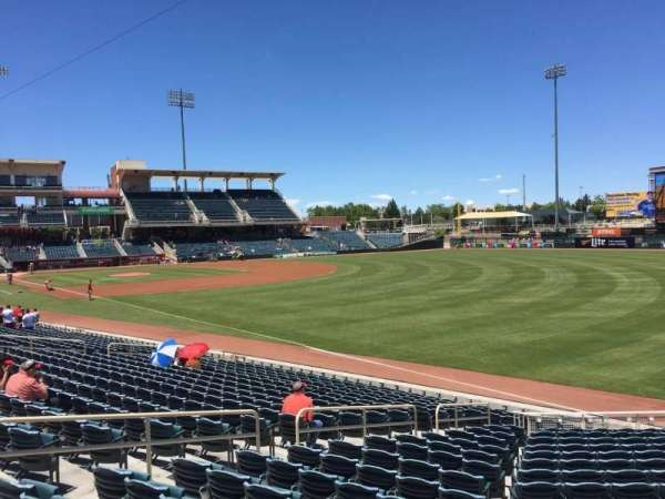 Isotopes Park, section: 124, row: Bar Rail, seat: 12