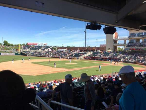 Isotopes Park, section: 117, row: Aca, seat: 2