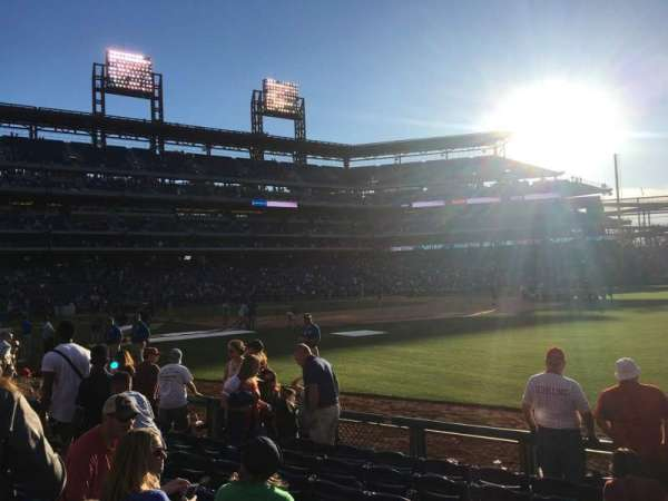 Citizens Bank Park, section: 111, row: 8, seat: 1