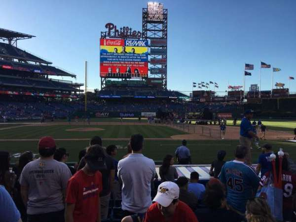 Citizens Bank Park, section: 117, row: 8, seat: 4