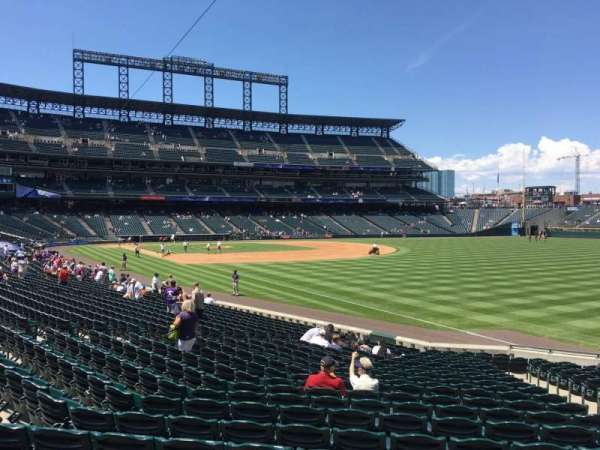 Coors Field, section: 113, row: 22, seat: 5