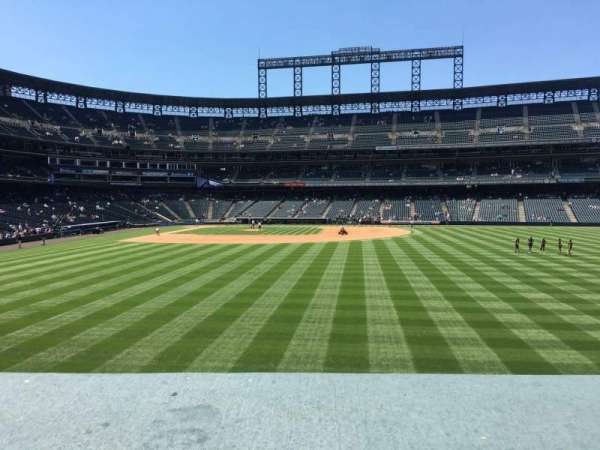 Coors Field, section: 105, row: 2, seat: 8