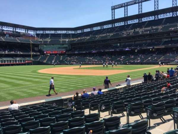 Coors Field, section: 144, row: 12, seat: 6