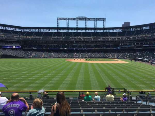 Coors Field, section: 153, row: 15, seat: 8