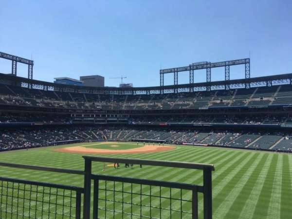 Coors Field, section: 201, row: 2, seat: 9