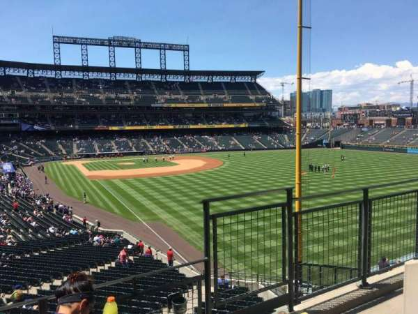 Coors Field, section: 209, row: 3, seat: 6