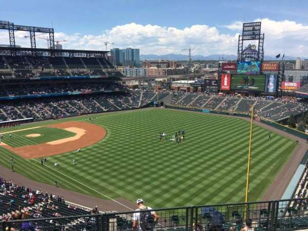Coors Field, section: U312, row: 14, seat: 12
