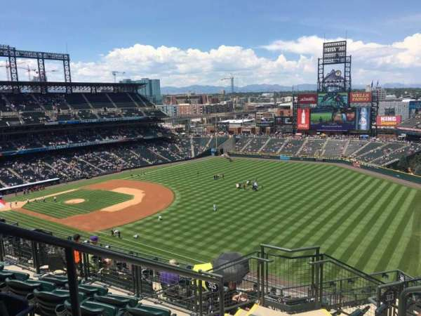 Coors Field, section: U314, row: 14, seat: 4