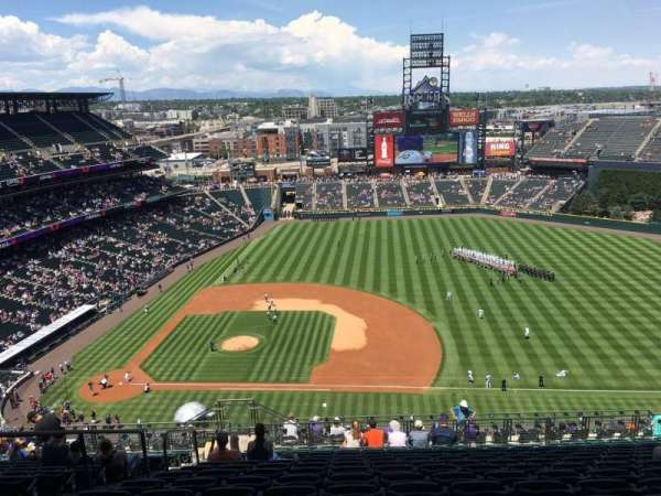 Coors Field, section: U321, row: 24, seat: 20