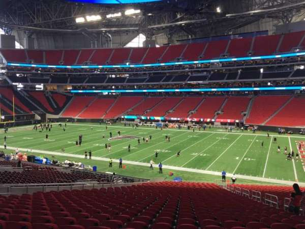 Mercedes-Benz Stadium, section: 125, row: 38, seat: 7