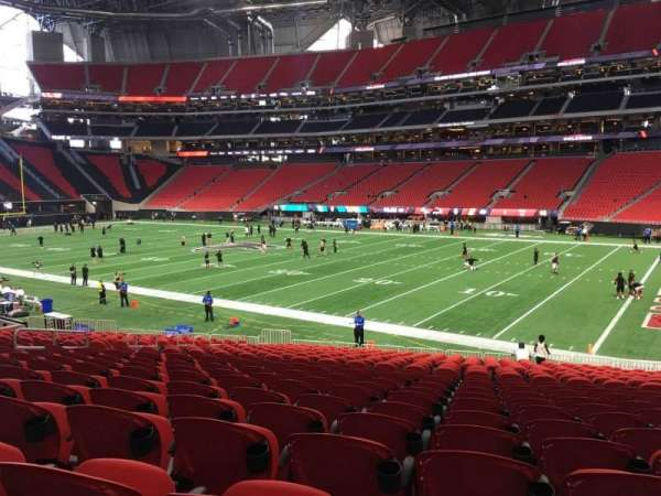 Mercedes-Benz Stadium, section: 124, row: 33, seat: 12